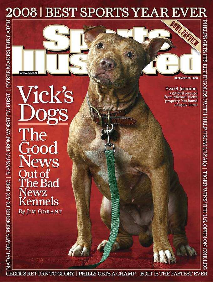 Sweet Jasmine, Michael Vicks Pit Bull Dogs Sports Illustrated Cover Photograph by Sports Illustrated