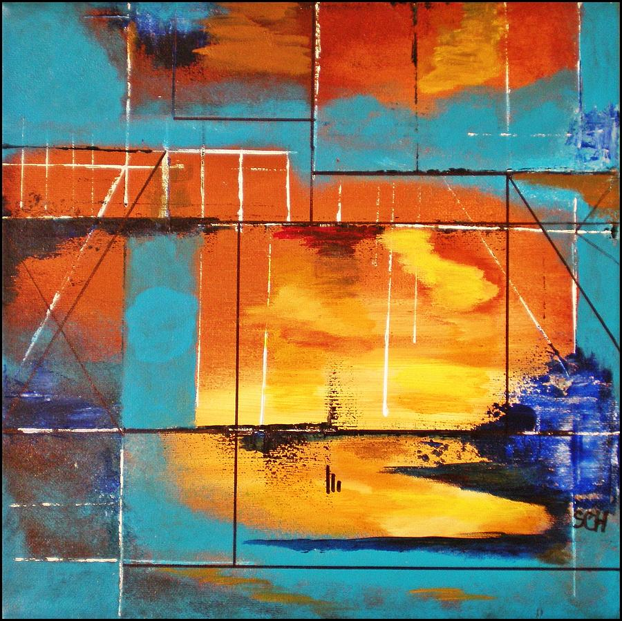 Abstract Painting - Sweet Light Of Dawn - Or - Windows To Illusion by Scott Haley