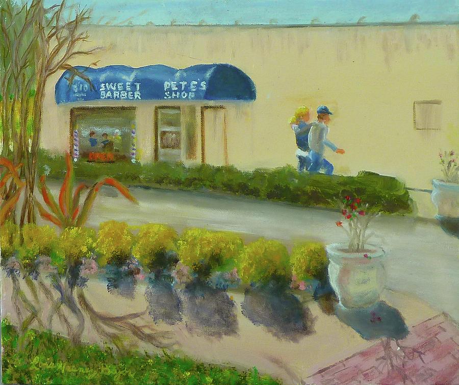 Barbershop Painting - Sweet Petes Barbershop by Lois Bajor