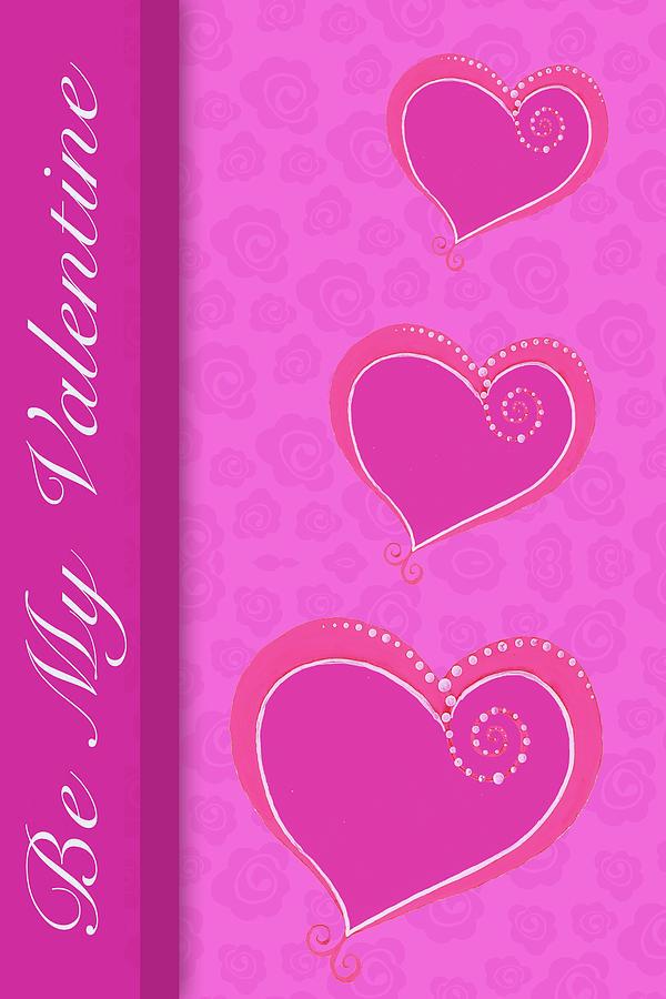 Sweet Mixed Media - Sweet Pink Valentines IIi by Andi Metz