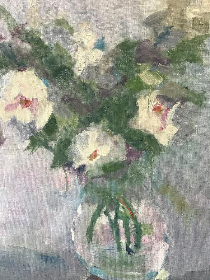 Sweet Roses Painting by Karen Jordan
