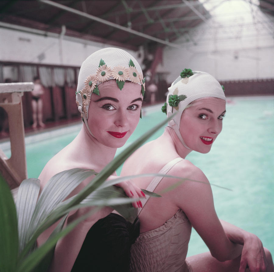 Swimming Hats Photograph by Charles Hewitt