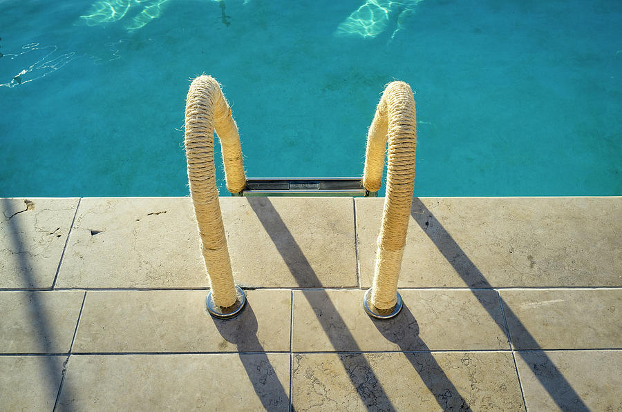 Swimming Pool Ladder, Los Angeles Photograph by Alvis Upitis
