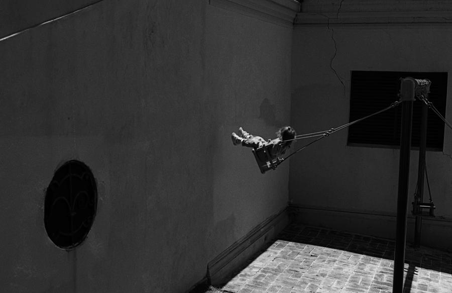 """Swing Photograph - Swing Against The Wall (from The Series """"childhoods"""") by Dieter Matthes"""