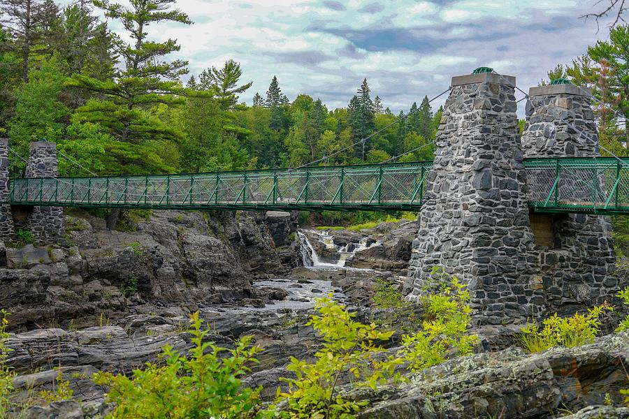 Swinging Bridge at Jay Cooke by Susan Rydberg