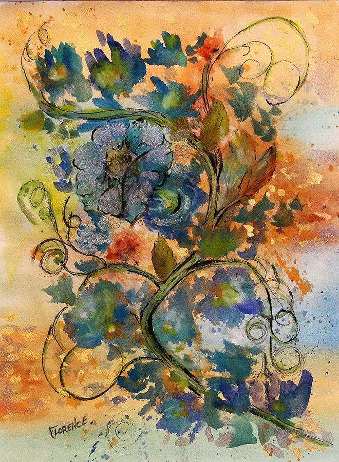 Floral Painting - Swirl  by Florence Ferrandino