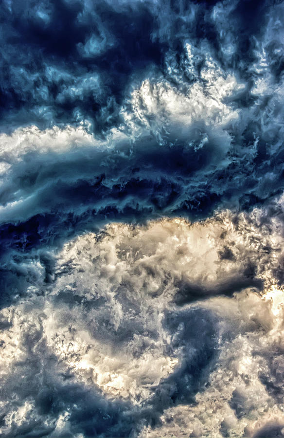 Swirling Clouds Abstract by Gary Slawsky