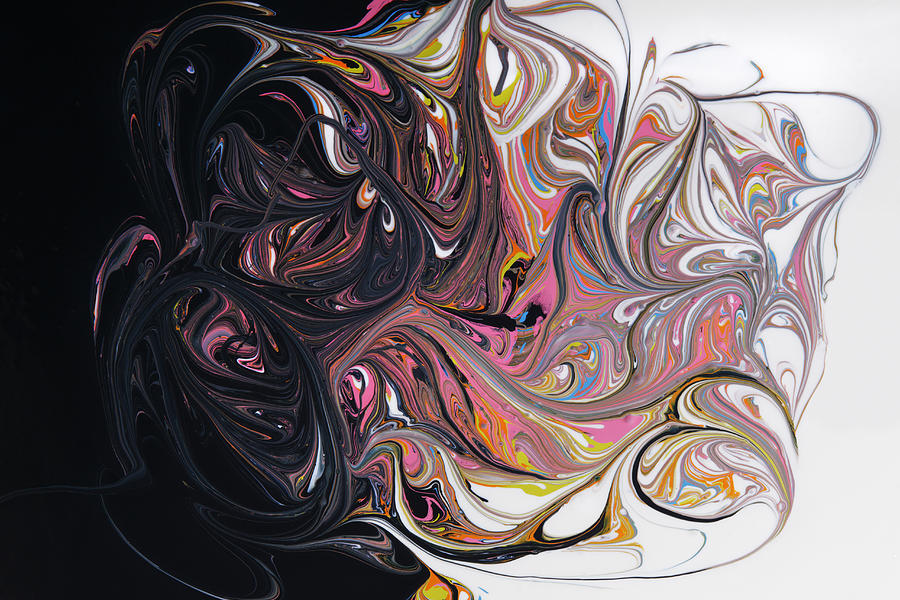 Swirling Paint, Dark To Light Photograph by Paul Taylor