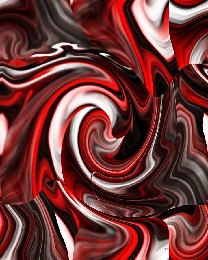 Swirls of Red by Roy Erickson
