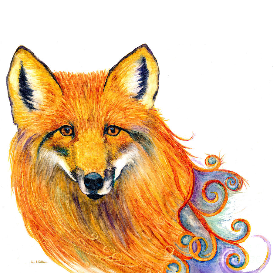 Swirly Fox by Jan Killian