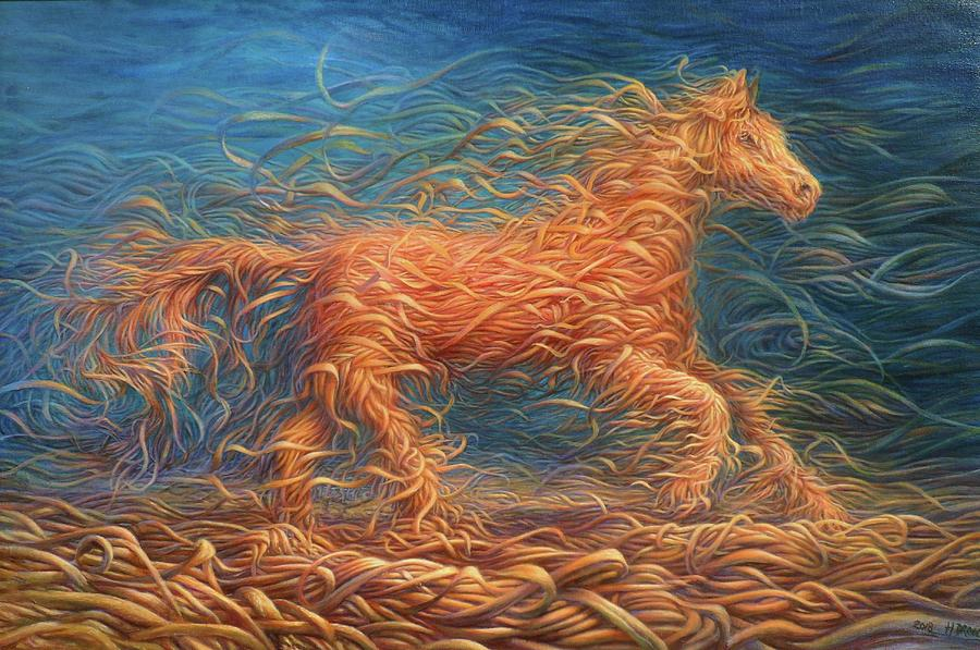 Swirly Horse 1 by Hans Droog