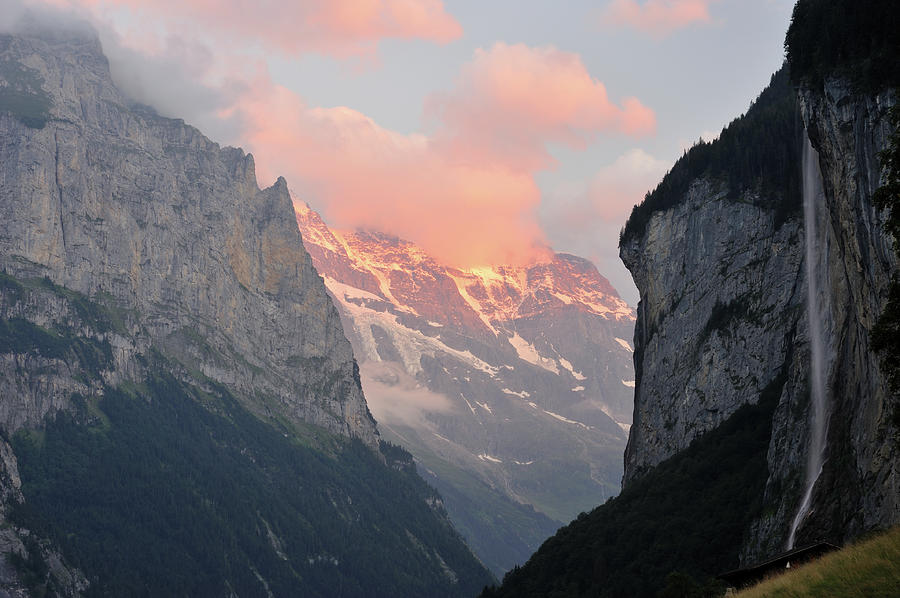 Swiss Alps At Sunset Photograph by Aimintang