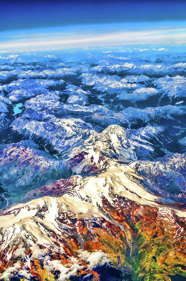 Swiss Photograph - Swiss Alps by Borja Robles