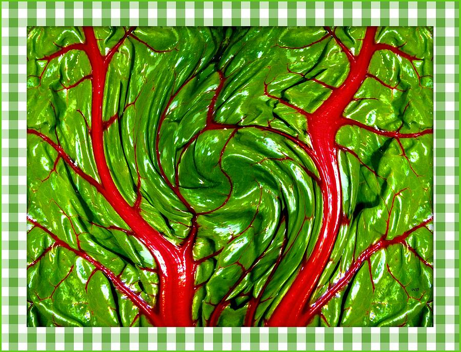Swiss Chard Abstract 2 by Will Borden