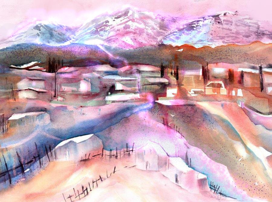 Swiss Mountain Village by Sabina Von Arx