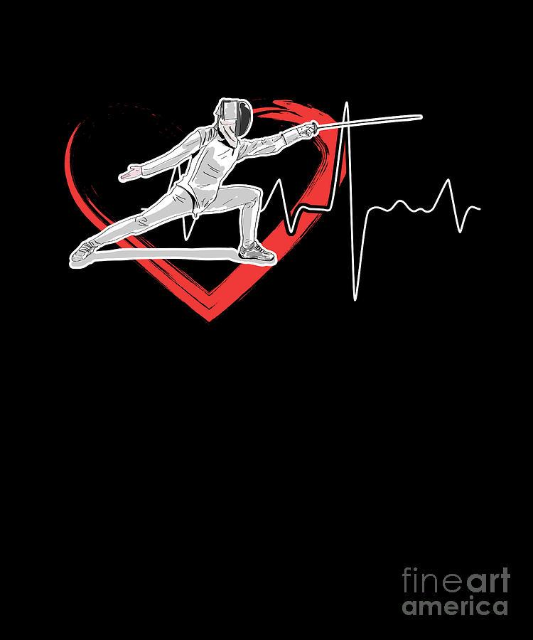Swordsmanship Swordsman Training Fencing Heartbeat Sword Fighting Gift by  Thomas Larch