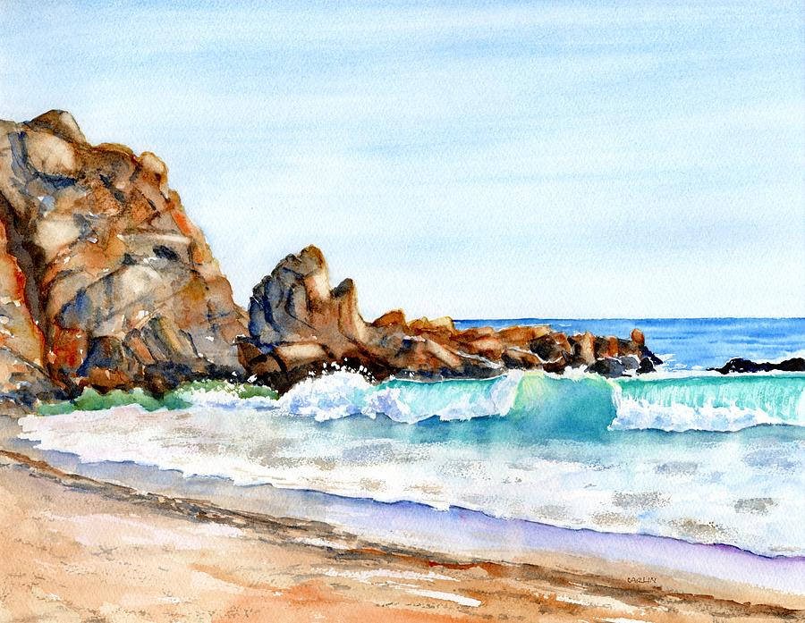 Sycamore Cove Beach California by Carlin Blahnik CarlinArtWatercolor