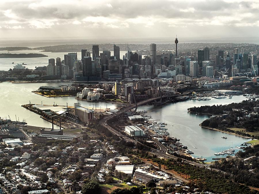 Sydney Aerial Landscape Photograph by Jesse Swallow
