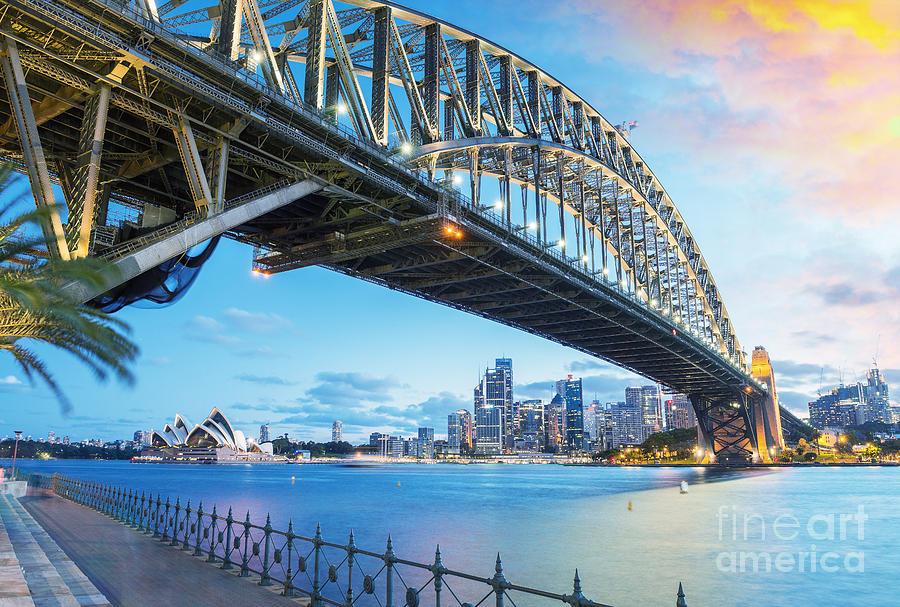 Harbour Photograph - Sydney, Australia. Amazing Skyline At by Pisaphotography