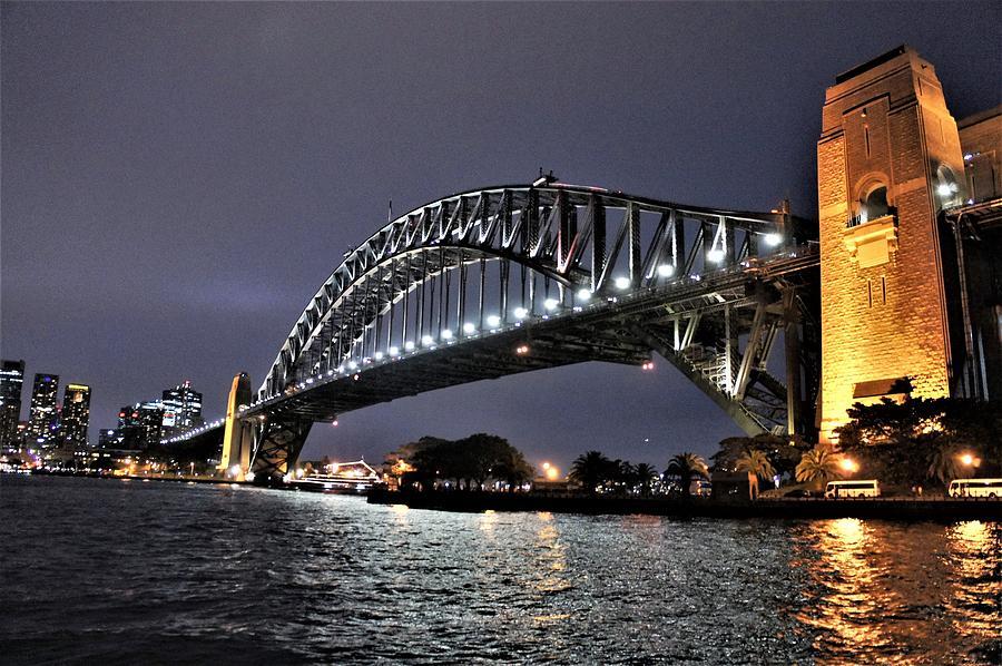 Australian Artist Photograph - Sydney Harbor Bridge Night View by Giro Tavitian