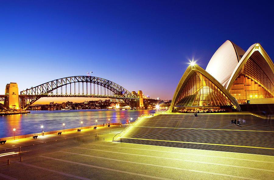 Sydney Harbour Bridge And The Sydney Photograph by Scott E Barbour