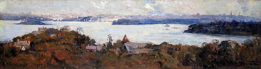 Arthur Streeton Painting - Sydney Harbour From Penshurst, Cremorne - Digital Remastered Edition by Arthur Streeton