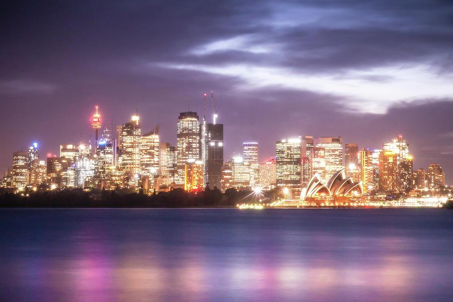 Downtown Sydney Nightscape Skyline by Peter Kolejak