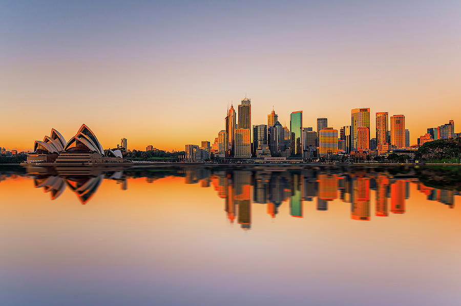 Sydney Opera House And Skyline Photograph by The Trinity