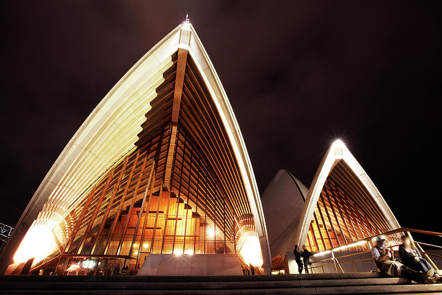 Sydney Opera House At Night Photograph by Allan Baxter