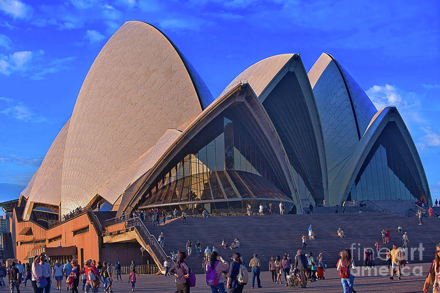 Sydney Opera House in sun by Agnes Caruso