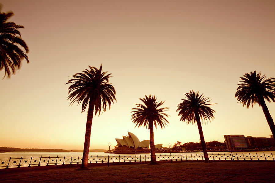 Sydney Opera House Shot From Public Photograph by Michael Dunning