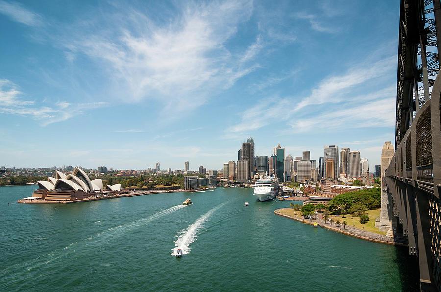 Sydney Skyline From Harbour Bridge Photograph by Photo By Roman Sandoz