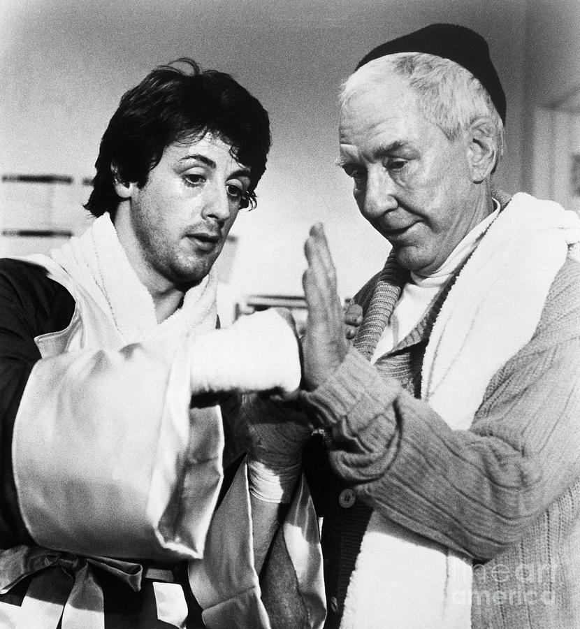 Sylvester Stallone And Burgess Meredith Photograph by Bettmann