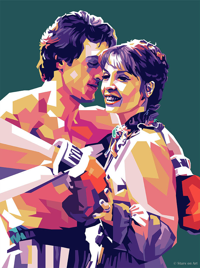 Sylvester Stallone And Talia Shire Digital Art