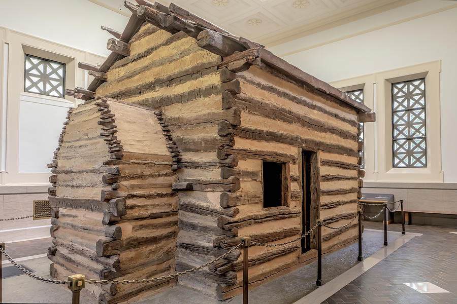 Symbolic Cabin at the First Lincoln Memorial by Susan Rissi Tregoning