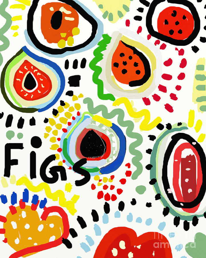 Drop Digital Art - Symbolic Image Of Fig Fruits by Dmitriip