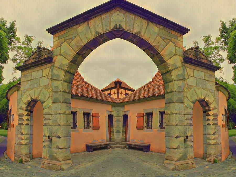 Mirror Photograph - Symmetrical Archway by Angel Eowyn