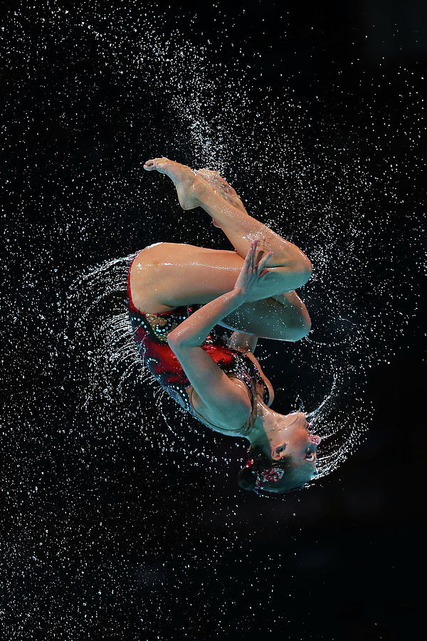 Synchronized Swimming - 15th Fina World Photograph by Quinn Rooney