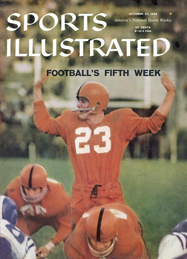 Syracuse Qb Chuck Zimmerman... Sports Illustrated Cover Photograph by Sports Illustrated