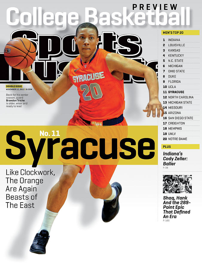 Syracuse University Brandon Triche, 2012-13 College Sports Illustrated Cover Photograph by Sports Illustrated