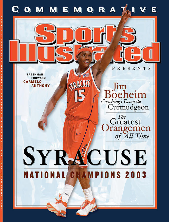 Louisiana Superdome Photograph - Syracuse University Carmelo Anthony, 2003 Ncaa National Sports Illustrated Cover by Sports Illustrated