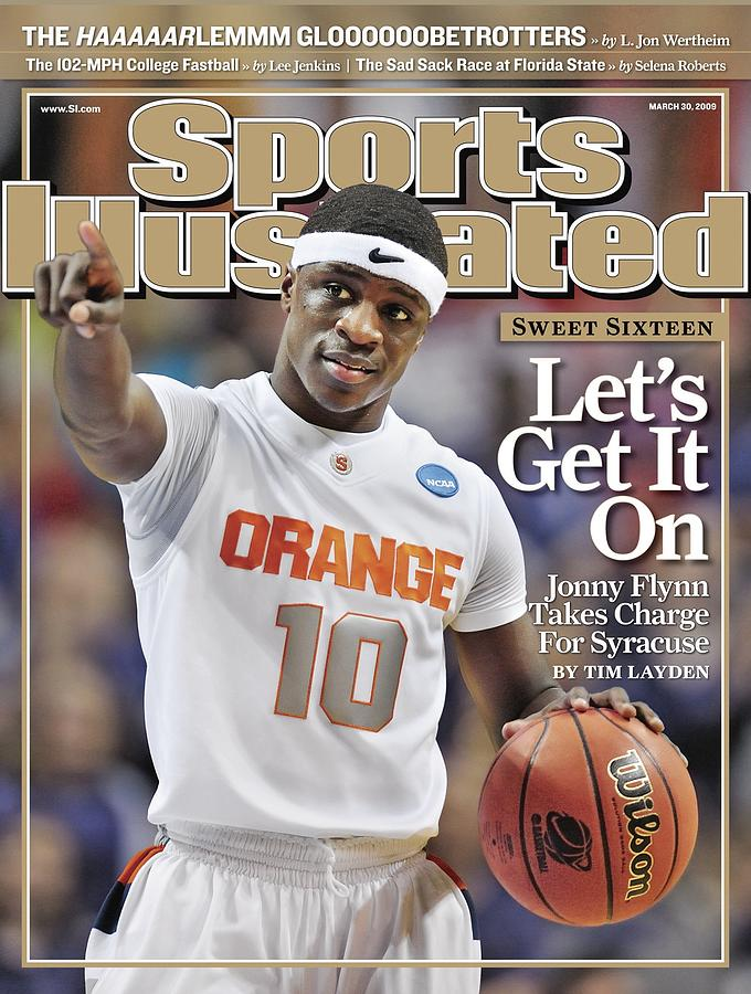 Syracuse University Jonny Flynn, 2009 Ncaa South Regional Sports Illustrated Cover Photograph by Sports Illustrated