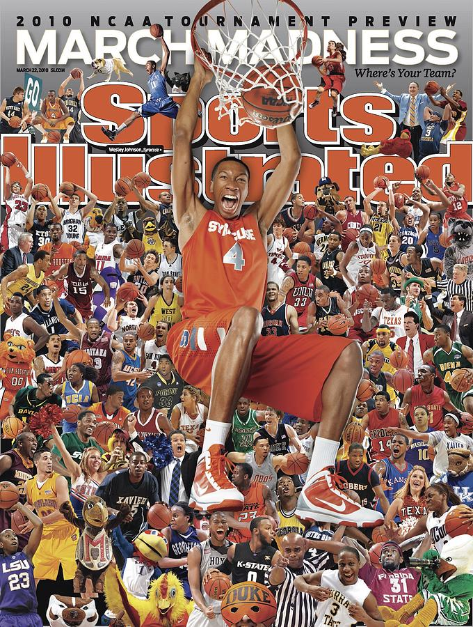 Syracuse University Wesley Johnson, 2010 March Madness Sports Illustrated Cover Photograph by Sports Illustrated