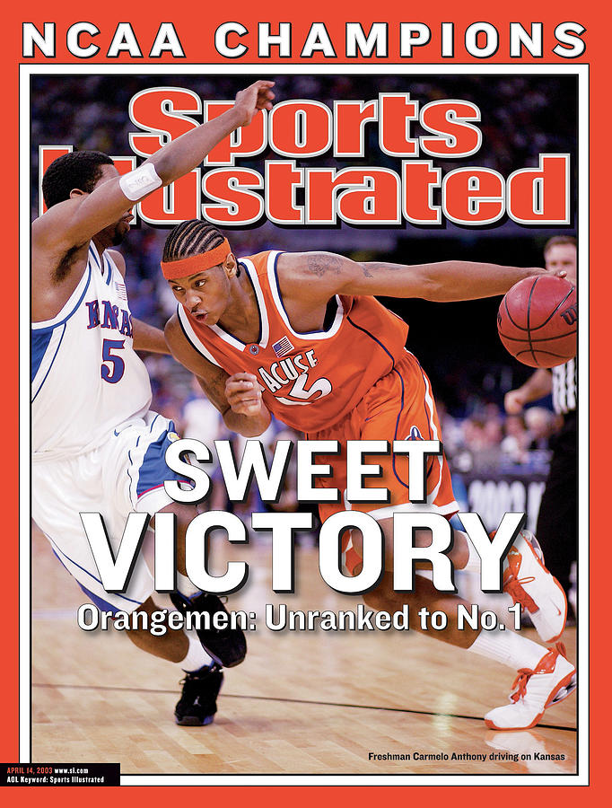 Syracuses Carmelo Anthony, 2003 Ncaa National Championship Sports Illustrated Cover Photograph by Sports Illustrated