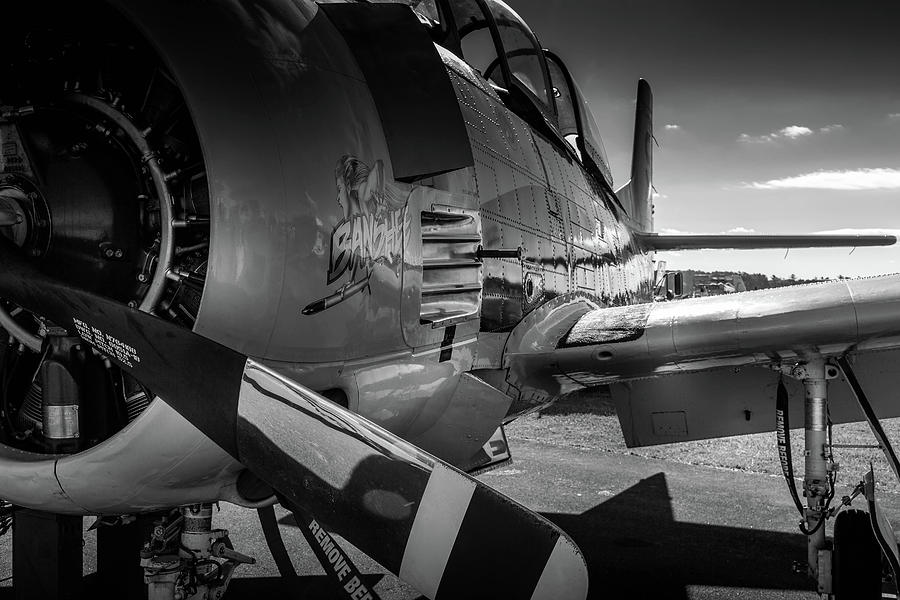 T-28B Trojan in BW by Doug Camara