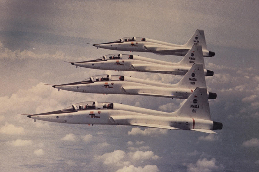 T-38 Jet Trainers Photograph by Comstock Images