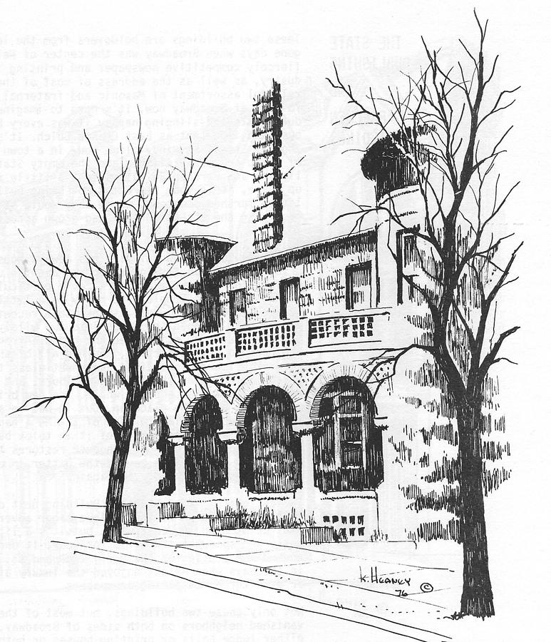 Helena Drawing - T C Powers Mansion Helena Montana by Kevin Heaney