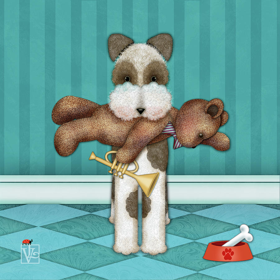T is for Terrier and Teddy by Valerie Drake Lesiak