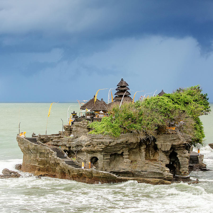 Beauty Photograph - Ta-nah Lot Temple Bali Indonesia by My Good Images