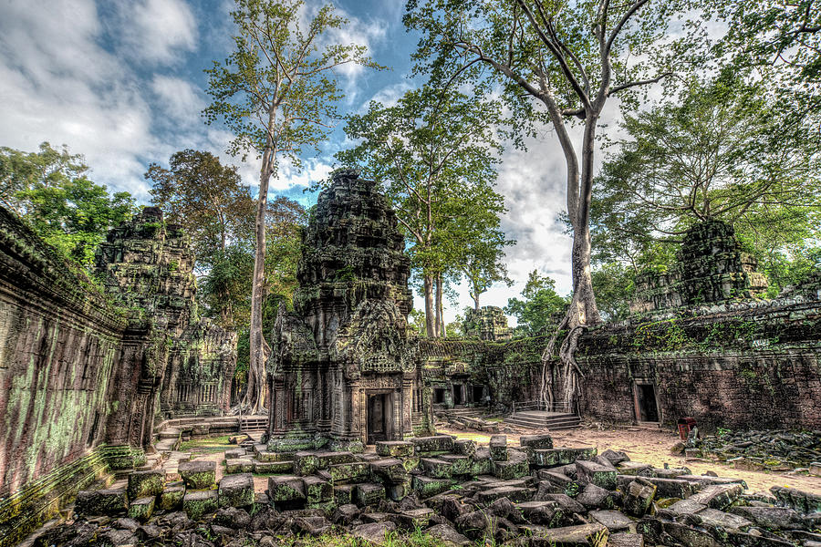 Angkor Photograph - Ta Prohm Temple Inside Angkor Complex, Cambodia. by Ian Robert Knight